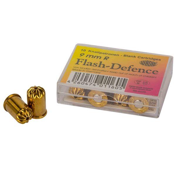 Wadie Cartouches à blanc Flash Defence 9 mm Revolver 10 pièces