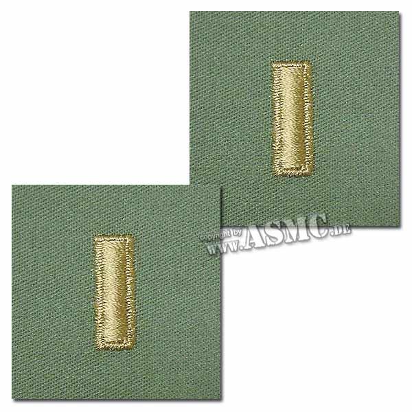 Grade US brodé 2nd Lieutenant olive