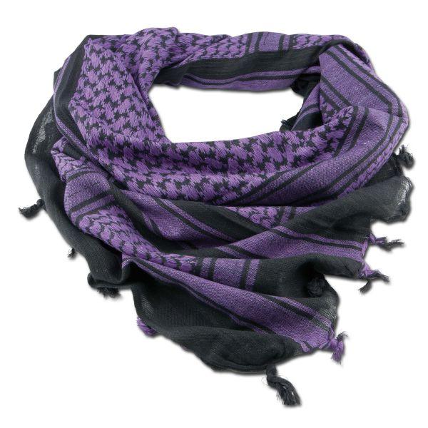 Écharpe 'Shemagh' noir/violet 110 x 110 cm