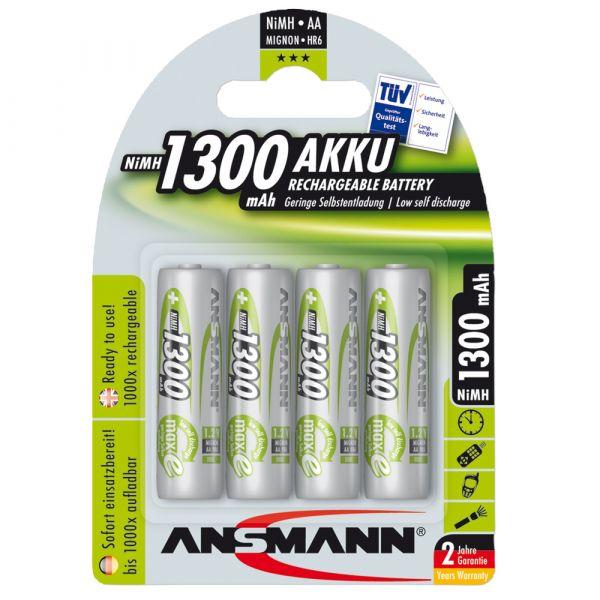 Accu Ansmann NiMH Mignon AA Green-Line lot de 4