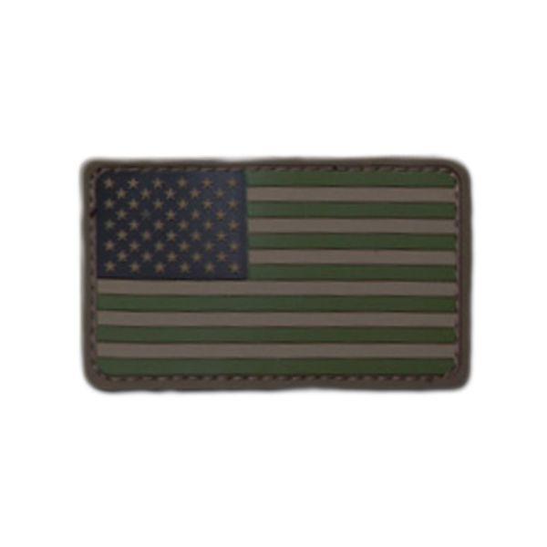 MilSpecMonkey Patch US Flag PVC forest