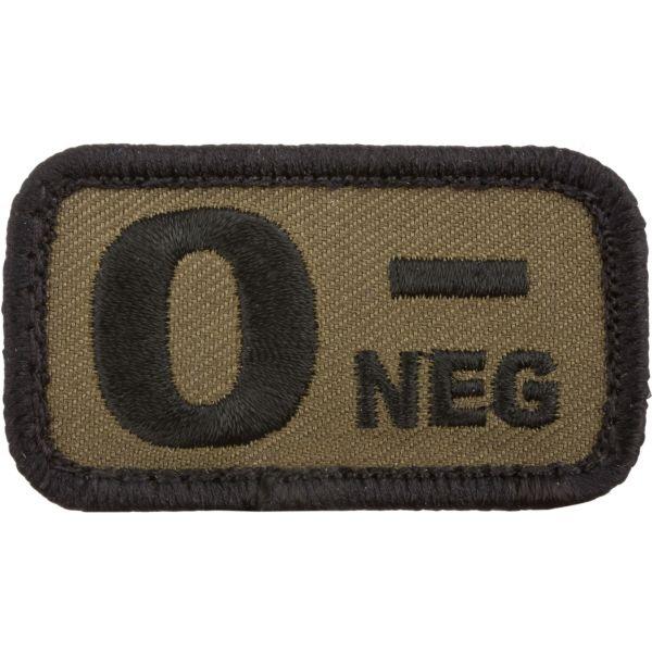 Café Viereck Patch groupe sanguin 0 neg