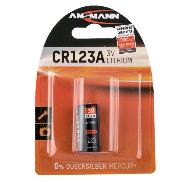 Pile au lithium pour appareil photo Ansmann CR123A