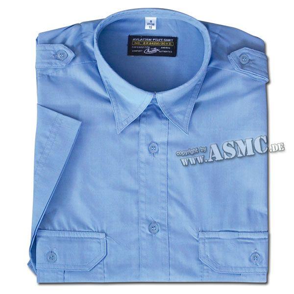 Chemise de Service manches courtes bleue