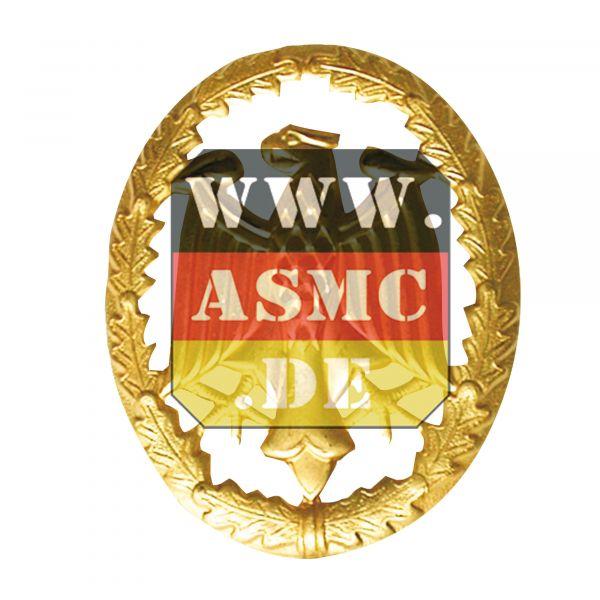 Badge de compétence métal or