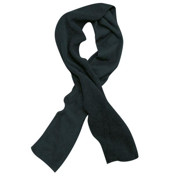 Écharpe en fibre polaire noire