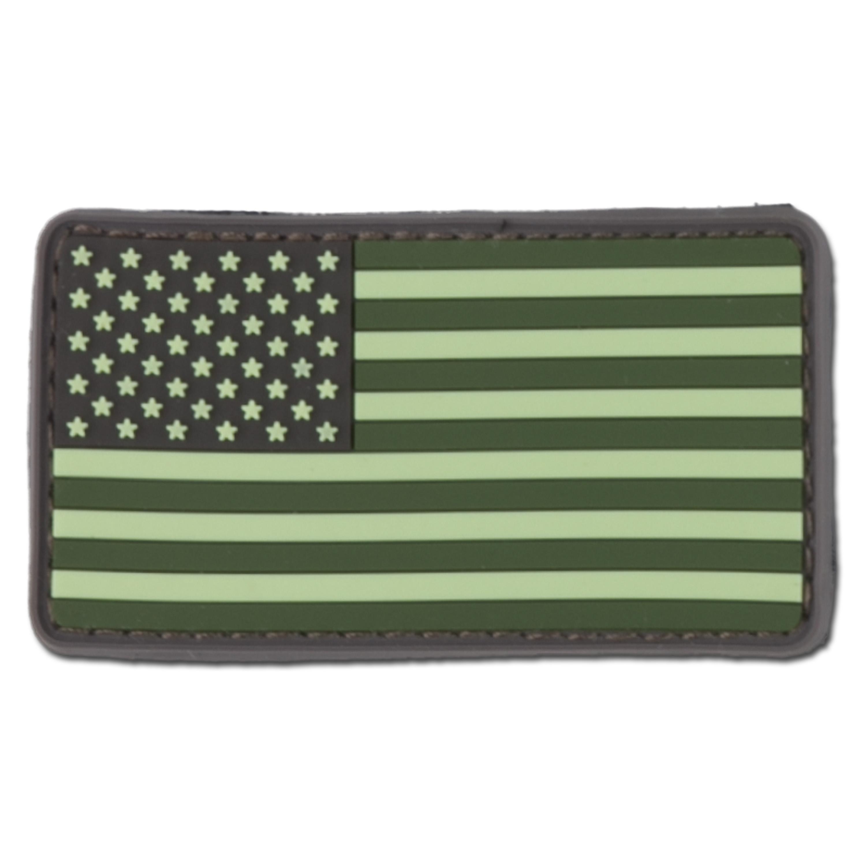 Patch 3D drapeau US forest green