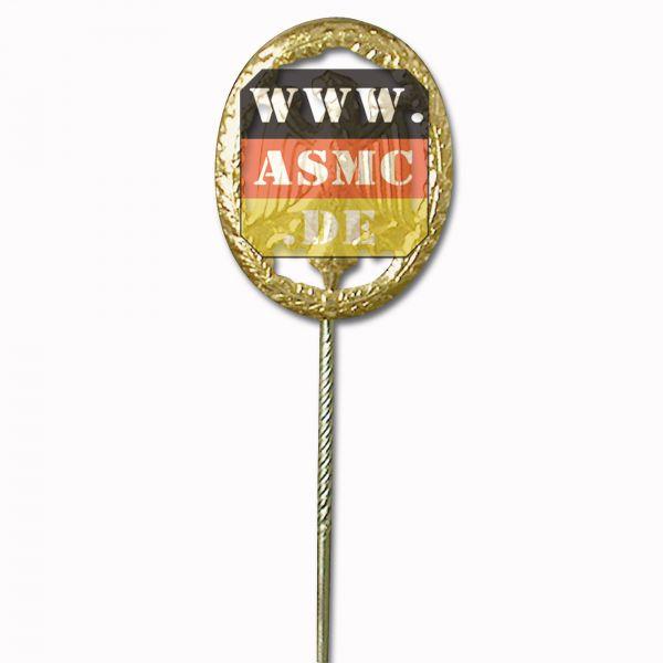 Badge de compétence miniature avec agrafe or