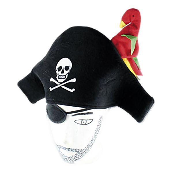 Chapeau de Pirate avec Perroquet