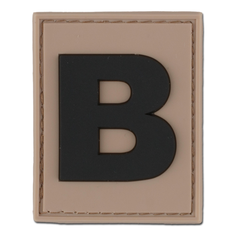 Patch ID 3D lettre B desert