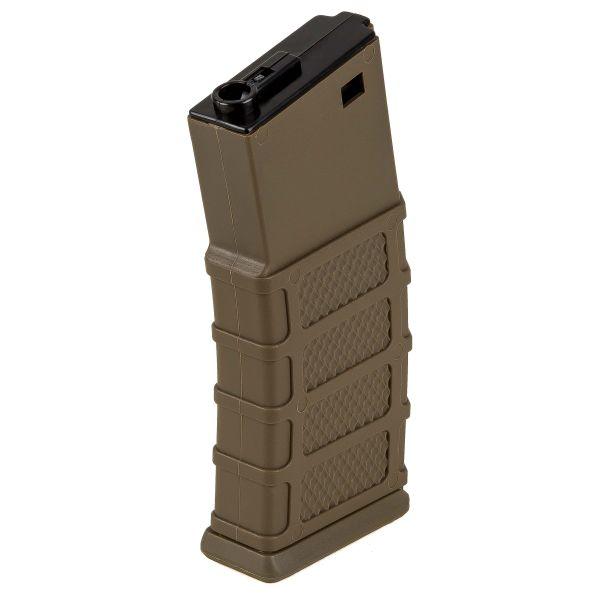 Classic Army Chargeur M4/AR15 Polymère Midcap 130 coups tan