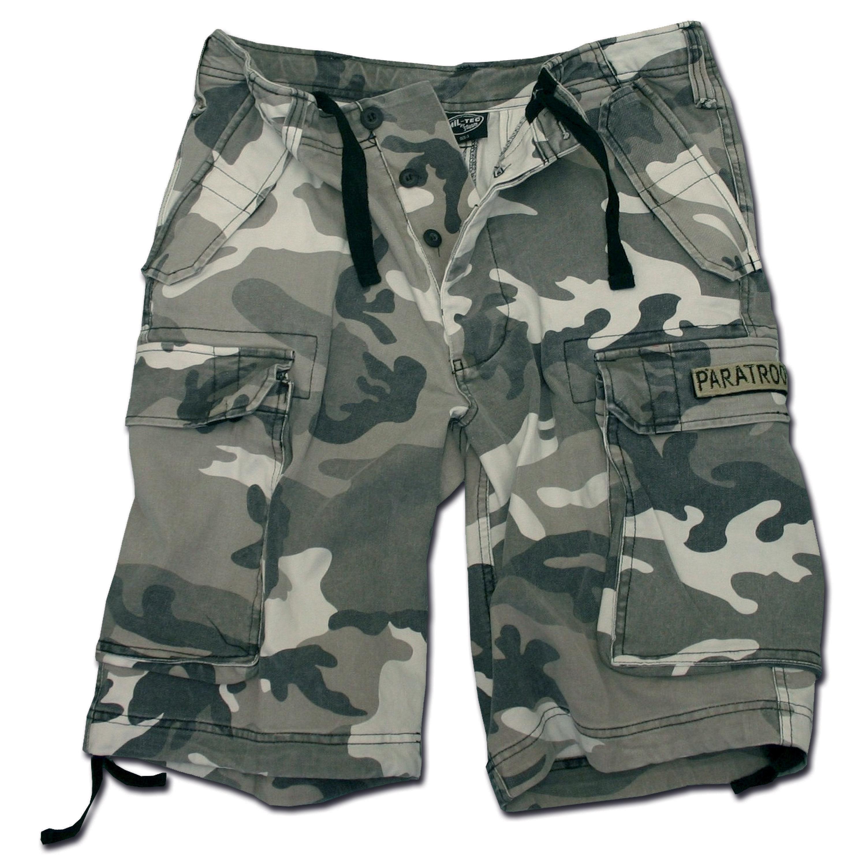 Shorts Mil-Tec Paratrooper prélavé urban