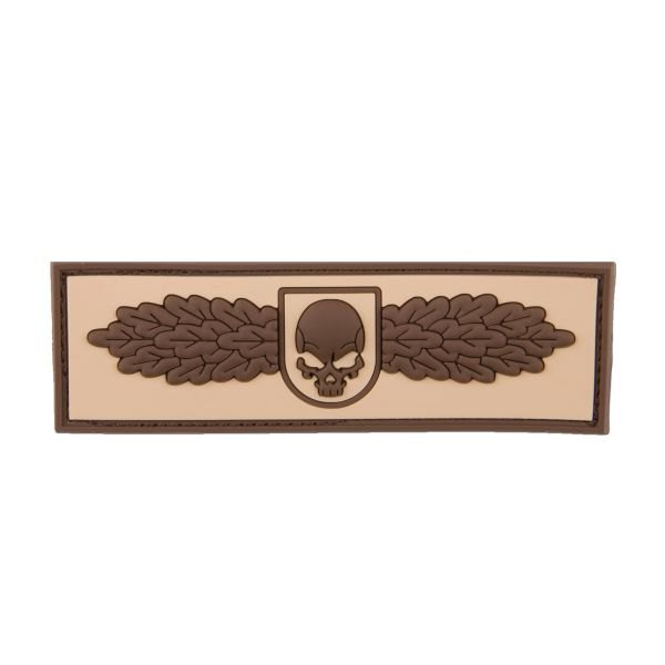 Patch 3D SOF Skull Badge desert