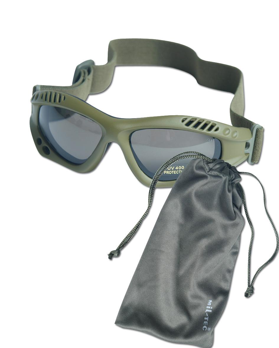 Masque de protection Commando Air-Pro kaki smoke