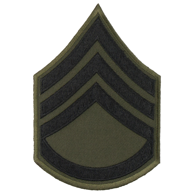 Grade US Sergent-chef tissu noir