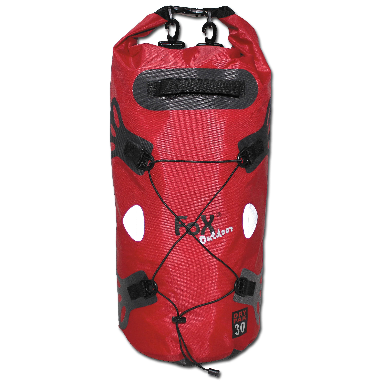 Sac de transport Fox Outdoor DRY PAK 30, rouge, étanche