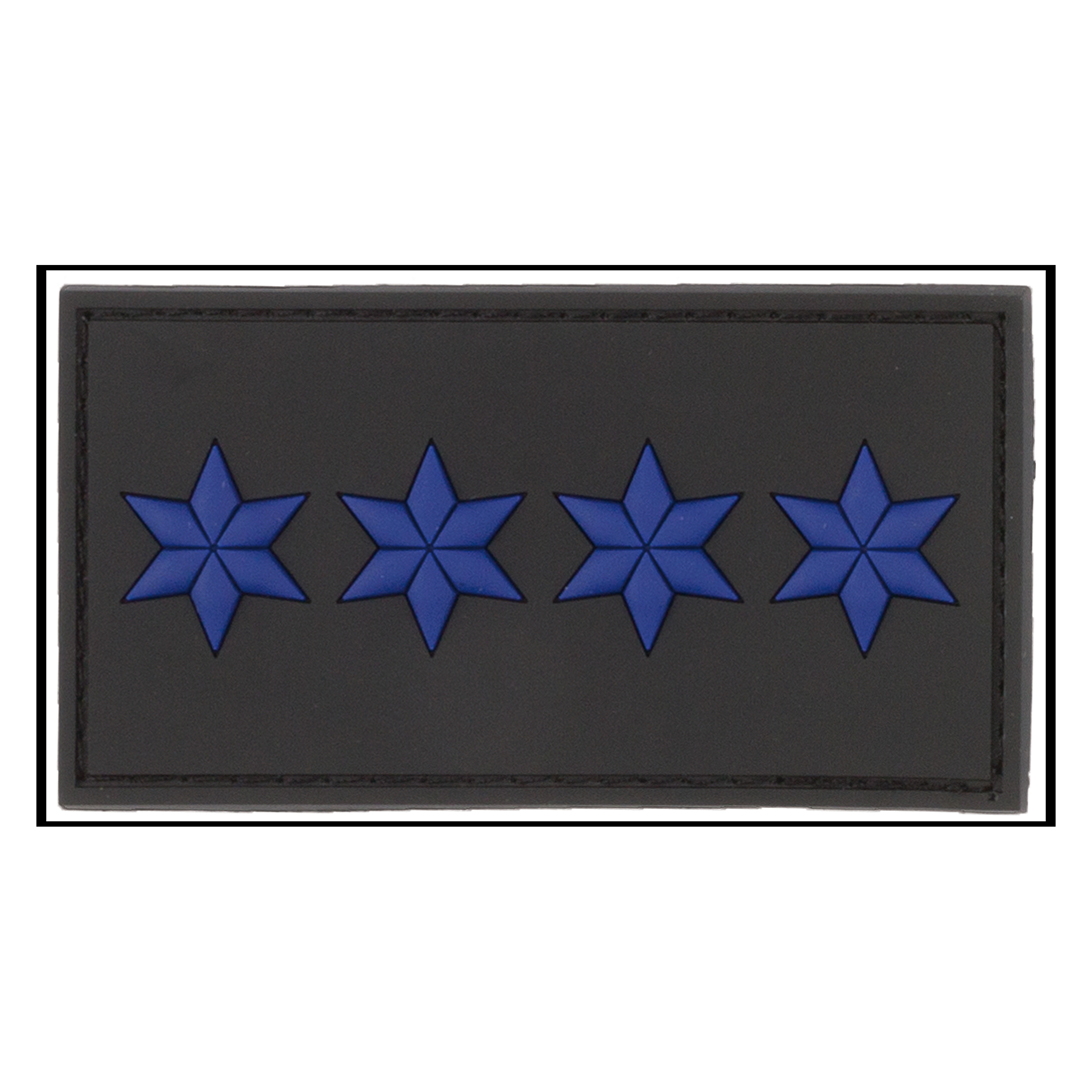 Patch 3D Grade Brigadier Major noir