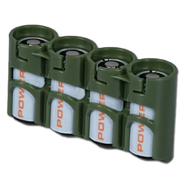 Porte-batteries Powerpax SlimLine 4 x CR123 olive