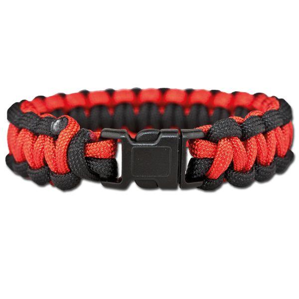 Bracelet Survival Paracorde rouge/noir