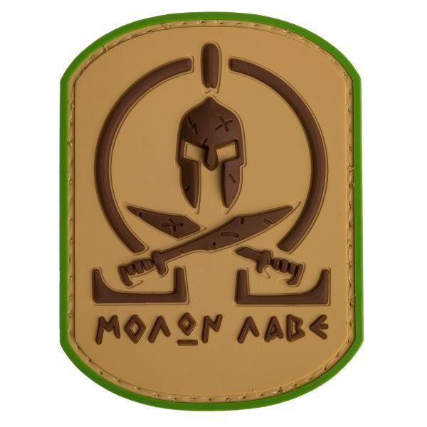 Patch 3D Molon Labe Spartan TAP multicam