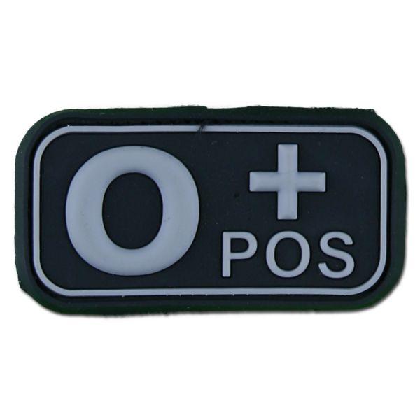 Patch 3D groupe sanguin O Pos swat