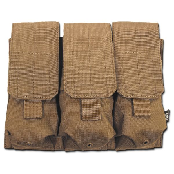 Porte-chargeurs triple Molle MFH coyote