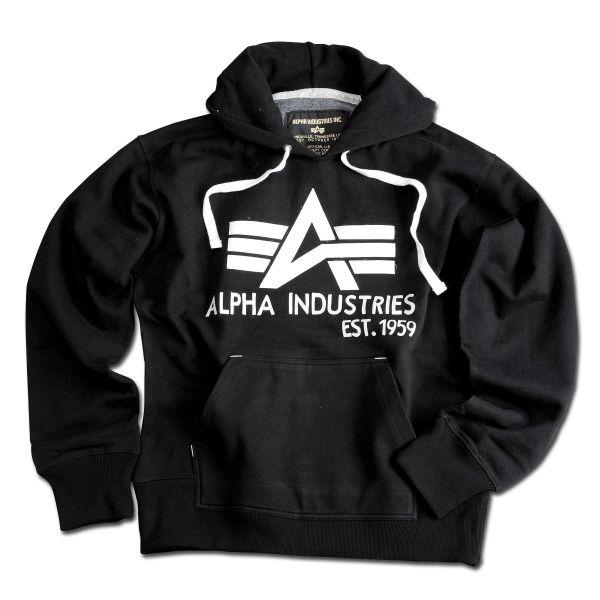 Sweat Big A Hoody Alpha Industries noir