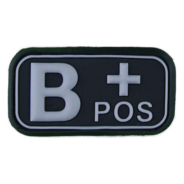 Patch 3D groupe sanguin B Pos noir-blanc