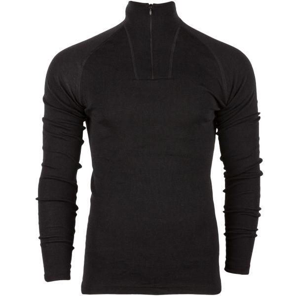 Woolpower Maillot manches longues Zip Turtleneck Lite noir