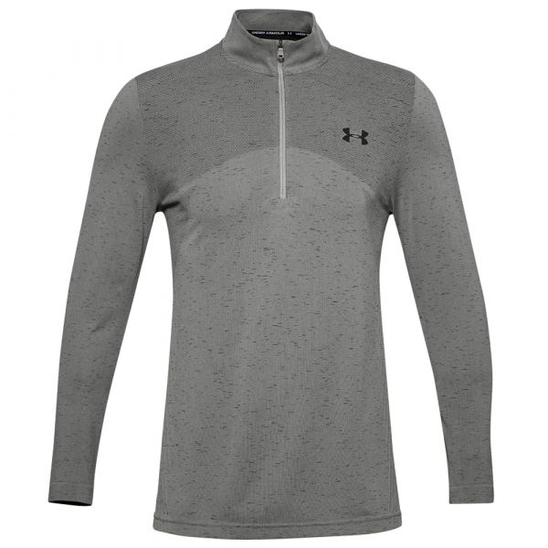 Under Armour Maillot Seamless 1/2 Zip gravity green