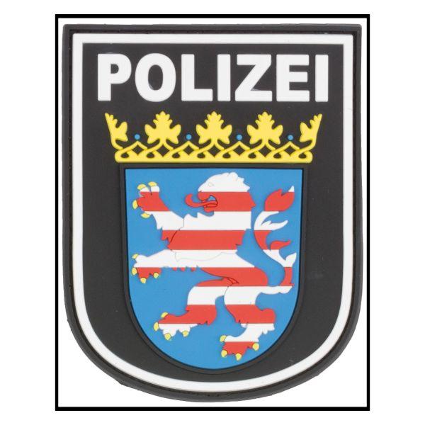 Patch 3D Insigne Police Hesse noir