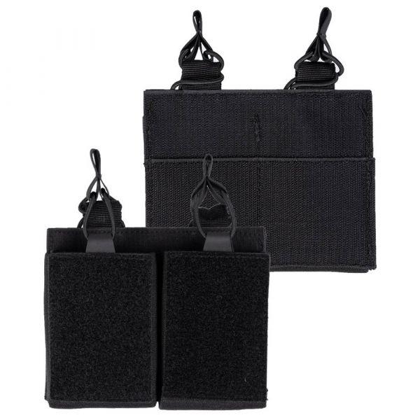 Mil-Tec Porte-chargeur Double avec velcro au dos noir