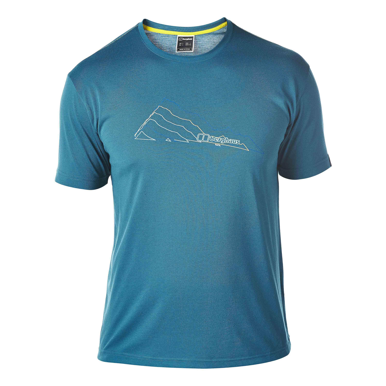 T-Shirt Berghaus Layered Mountain bleu corail