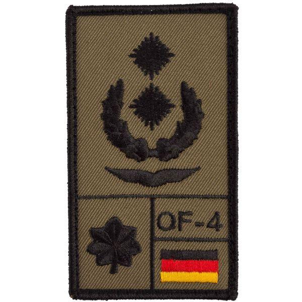 Café Viereck Patch Grade Oberstleutnant Luftwaffe olive