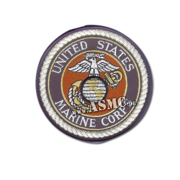 Insigne Tissu US USMC ronde bleu-blanc-rouge