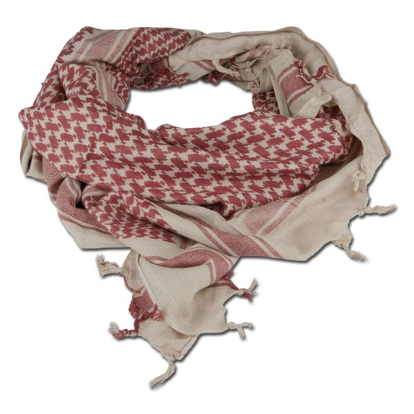 Shemagh coyote-marron 110 x 110 cm