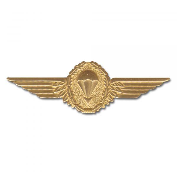 Insigne métallique parachutiste BW or