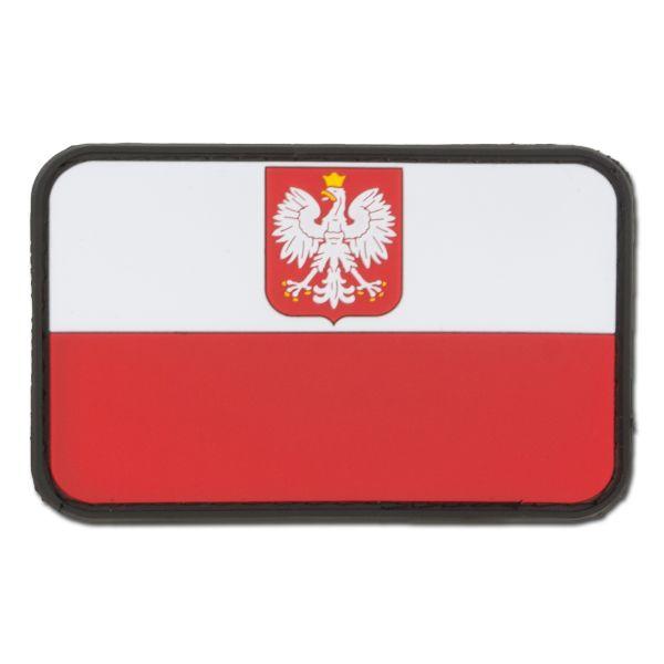 Patch 3D drapeau polonais avec blason fullcolor