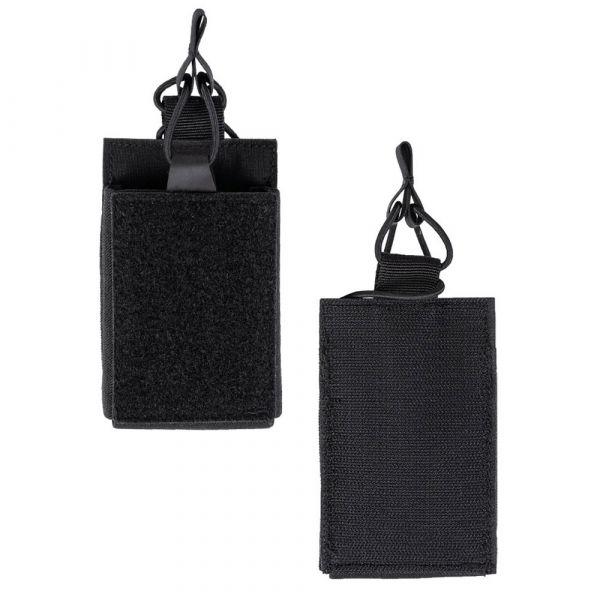 Mil-Tec Porte-chargeur simple avec velcro au dos noir
