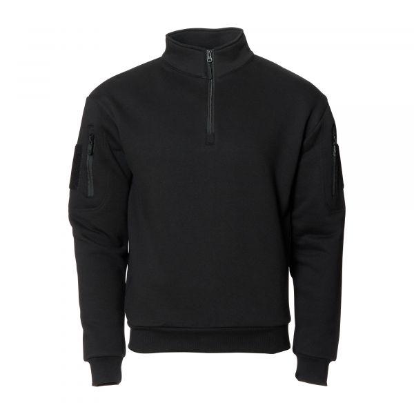 Mil-Tec Sweat-shirt Tactical avec fermeture éclair noir