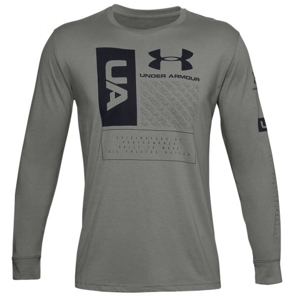 Under Armour Maillot Multi Logo LS gravity green