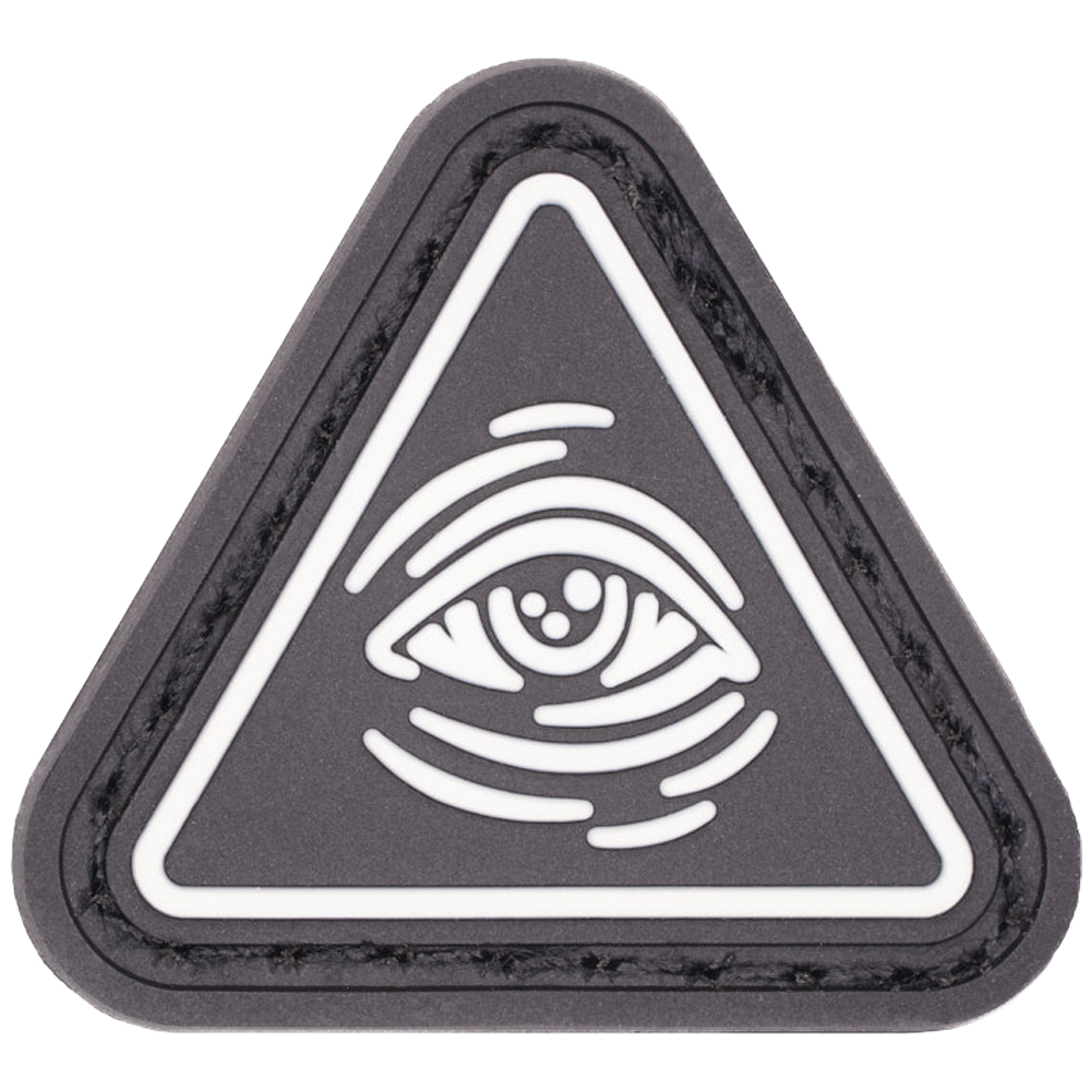 LMSGear Patch Cat Eye All Seeing Eye blanc phosphorescent