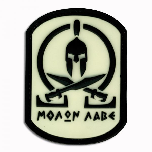 Patch 3D Molon Labe Spartan luminescent inversement