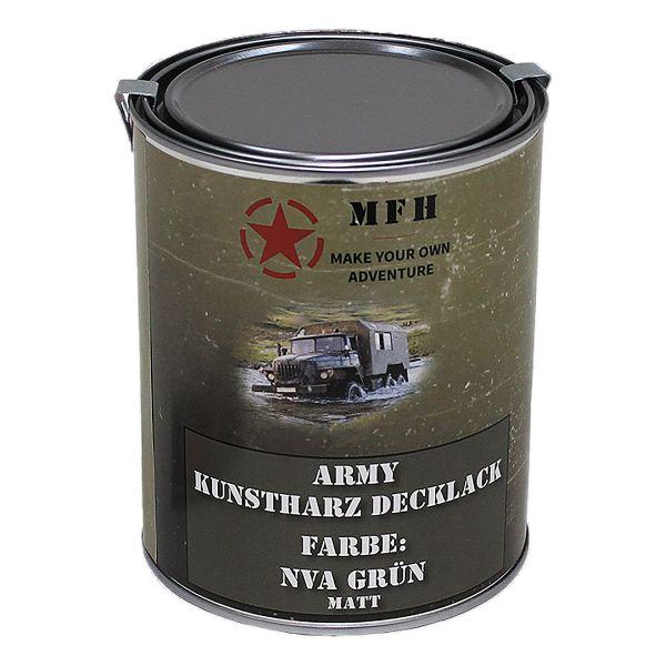 MFH Pot de peinture Army mat vert NVA 1 L