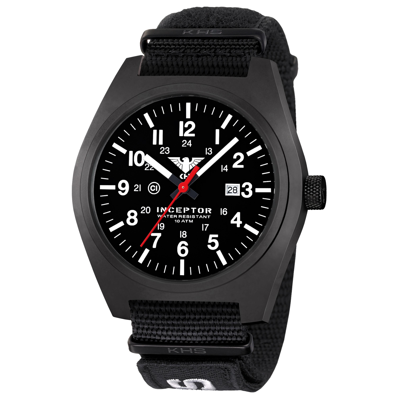 KHS Montre Inceptor Black Steel Bracelet Otan XTAC noir