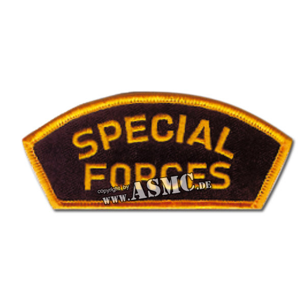 Insigne de Casquette Special Forces noir/or