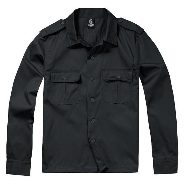 Chemise US à manches longues Brandit noire