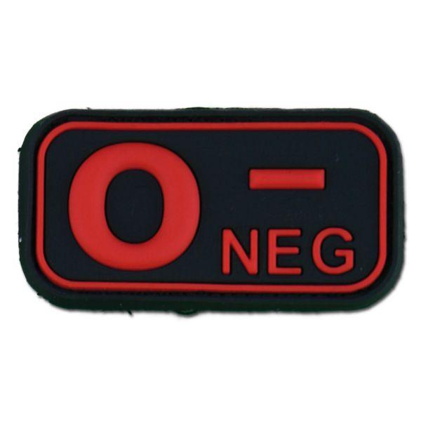 Patch 3D groupe sanguin 3D 0 Neg blackmedic