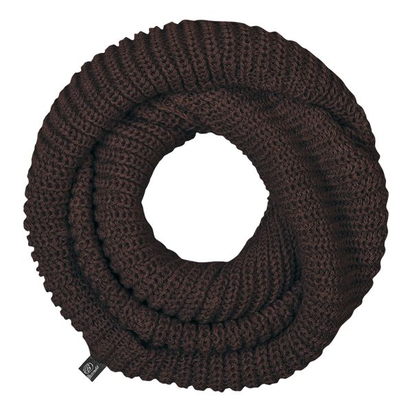 Brandit Écharpe tube en tricot marron