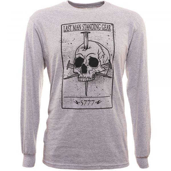 LMSGear T-Shirt manches longues Death Card Skull gris